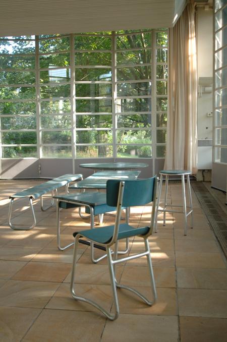 Photo actuelle d'un pavillon de l'EPA avec son mobilier d'origine.