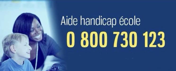 Aide handicap école au 0 800 730 123