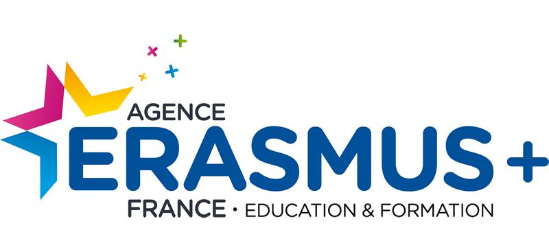 Logo agence Erasmus + France éducation et formation.