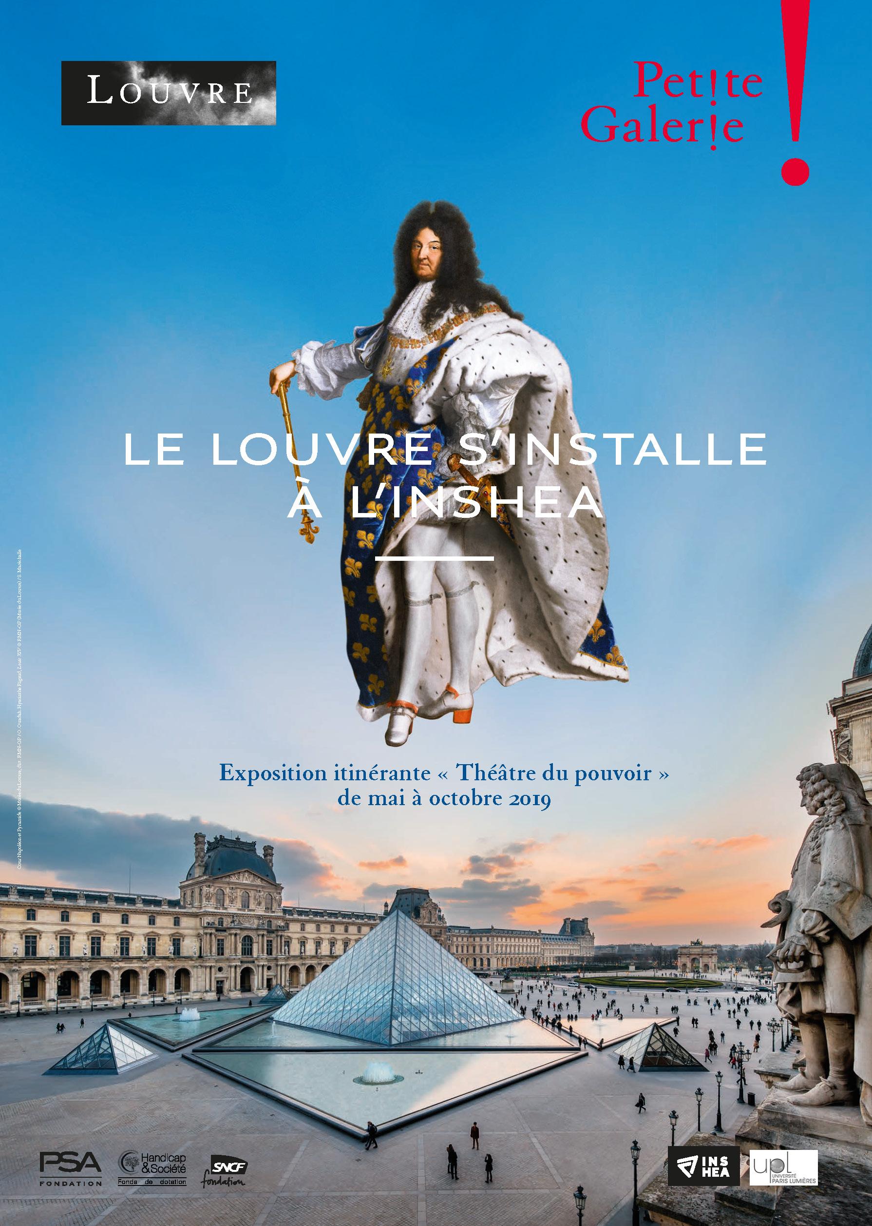 Le Louvre à l'INSHEA, affiche.