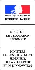 Ministère de l'éducation nationale, et ministère de l'enseignement supérieur de la recherche et de l'innovation.
