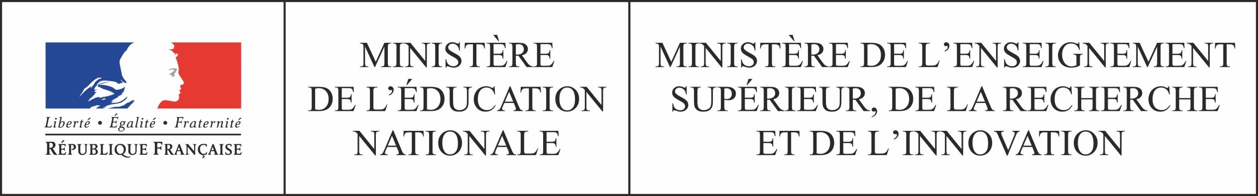 logo du ministère de l'éducation nationale, de l'enseignement supérieur, de la recherche et de l'innovation