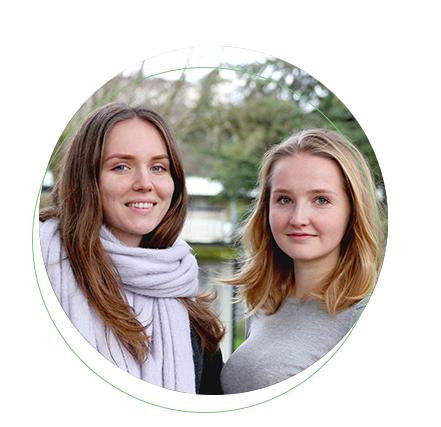 Portrait de Svetlana et Valentia, étudiantes russes