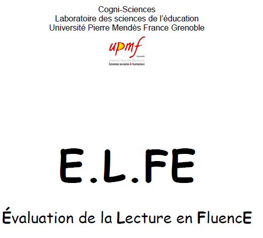 image Evaluation de la Lecture en FluencE  2008