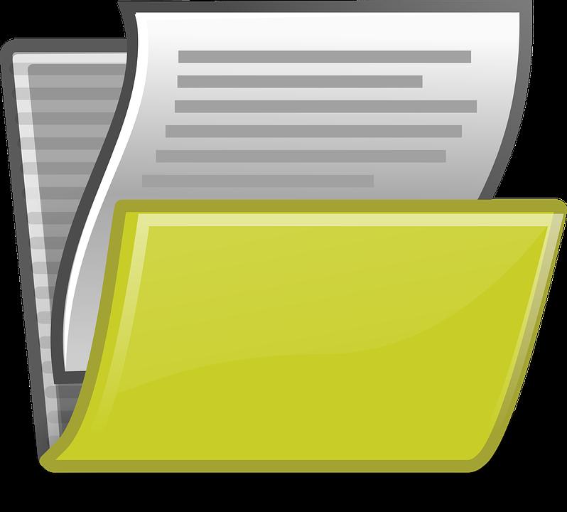 dossier de documents papier