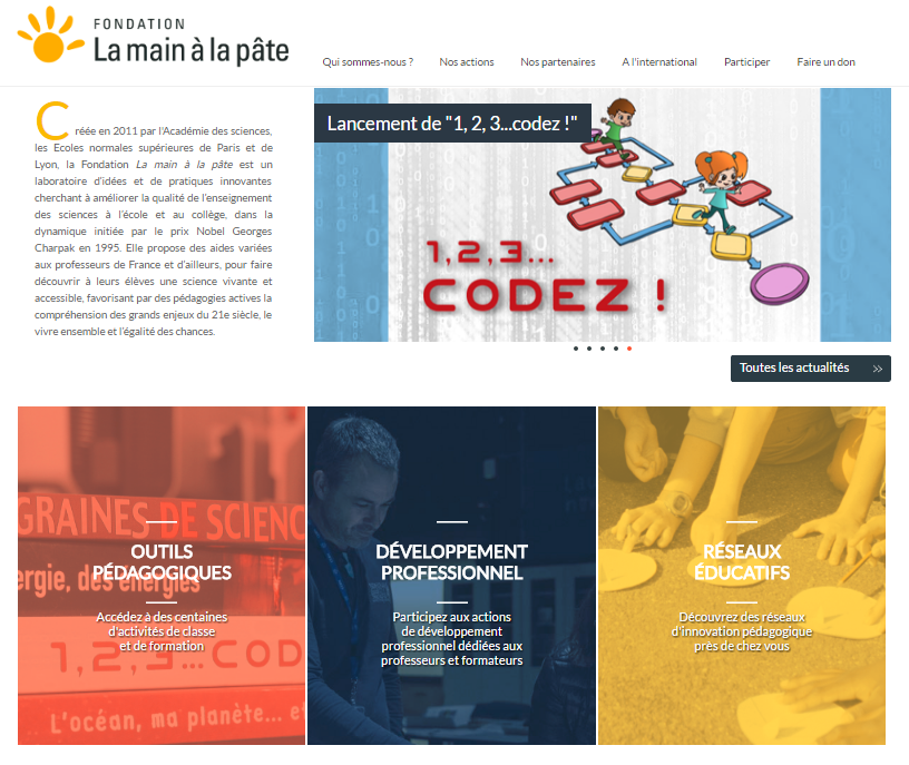 page accueil site