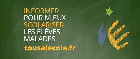 Informer pour mieux scolariser les élèves malades grâce à tousalecole.fr