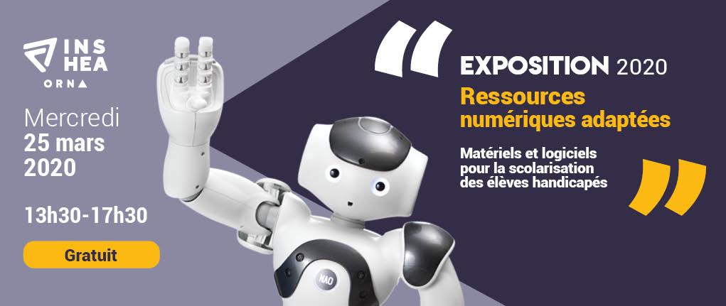 Mercredi 25 mars 2020, de 13h30 à 17h30 : Exposition de ressources numériques adaptées. Événement Gratuit organisé par l'Orna (Observatoire des ressources numériques adaptées)