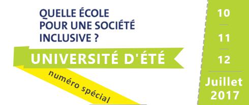 """Numéro spécial Université d'été """"Quelle école pour une société inclusive"""""""