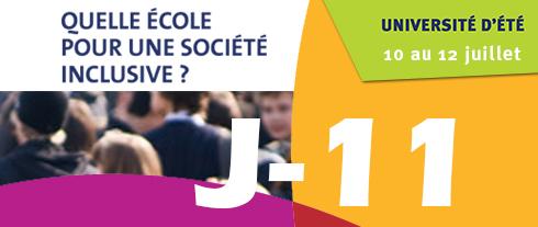 """Université d'été """"Quelle école pour une société inclusive"""" J-12"""