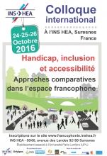 Affiche colloque « Handicap(s), inclusion et accessibilité : approches comparatives dans l'espace francophone »