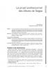 """Première page de l'article """"Le projet professionnel des élèves de Segpa"""""""
