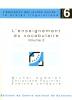 """Couverture de l'ouvrage """"L'enseignement du vocabulaire. Volume 2"""""""