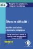 """Couverture de l'ouvrage """"Élèves en difficulté : les aides spécialisées à dominante pédagogique"""". Sans visuel."""