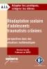 """Couverture de l'ouvrage """"Réadaptation scolaire d'adolescents traumatisés crâniens"""""""