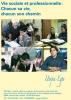 """Jaquette du film """"VSP (Vie sociale et professionnelle : """"Chacun sa vie, chacun son chemin"""""""" illustré par quatre photos d'élèves et d'enseignants"""