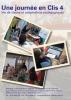 """Juaquette du film """"Une journée en Clis 4. Vie de classe et adaptations pédagogiques"""" illustrée par trois photos d'élèves en classe."""