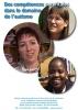 """Jaquette du film """"Des compétences parentales dans le domaine de l'autisme"""" illustrée par trois photos de mère d'enfants avec autisme."""