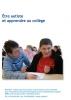 """Jaquette du film """"Être autiste et apprendre au collège"""" illustrée par une photo d'un collègien avec son AVS."""