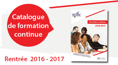 Rentrée 2016-2017, catalogue de formation continue