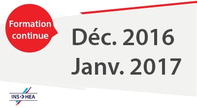 Formation continue décembre 2016 janvier 2017