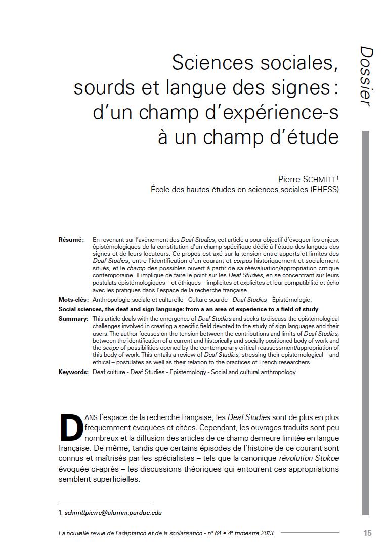 Couverture de la revue n°64 de La nouvelle revue de l'adaptation et de la scolarisation