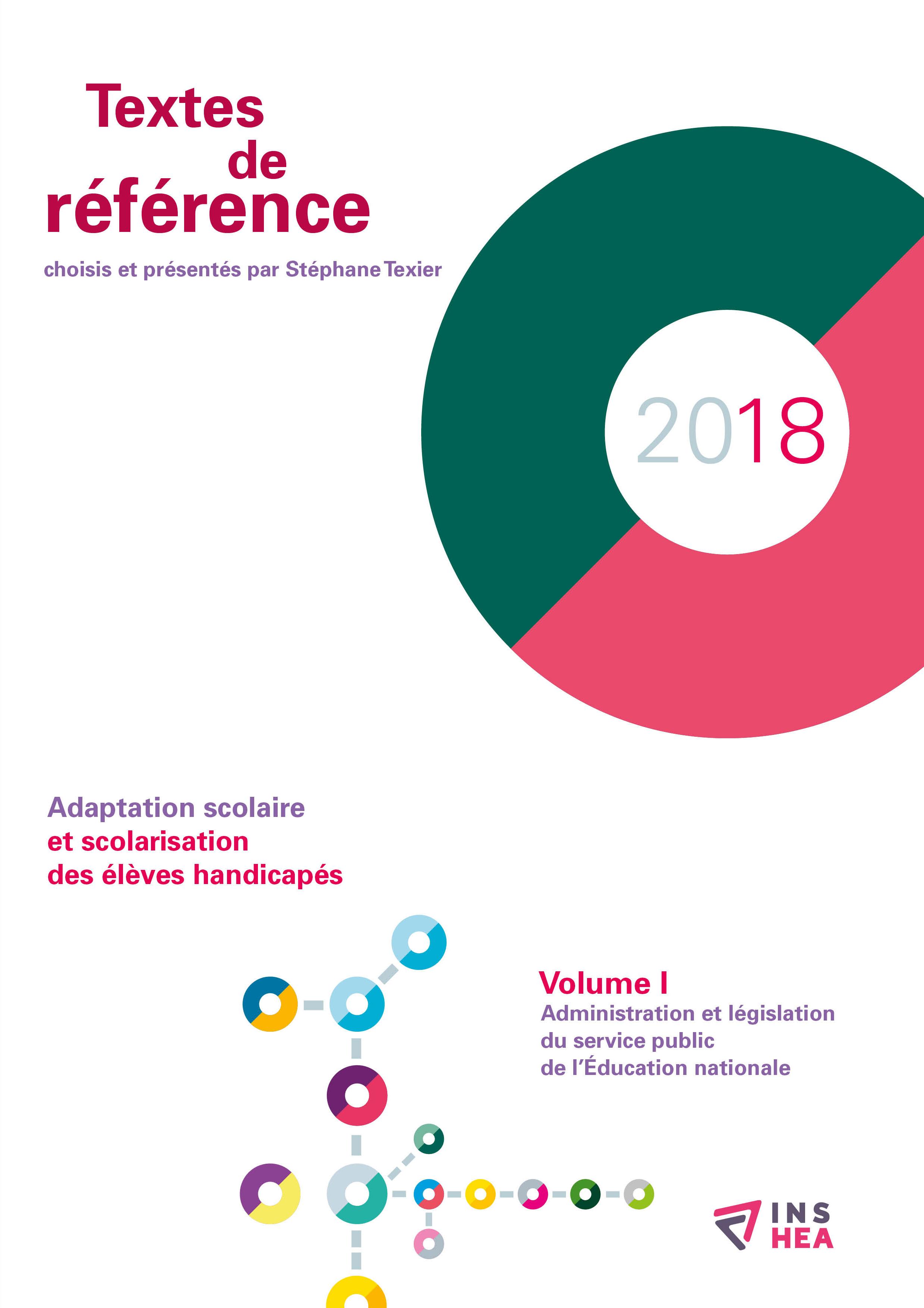 Couverture des Textes de référence 2018, volume 1