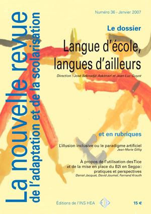 Couverture de La nouvelle revue de l'adaptation et de la scolarisation, n°36