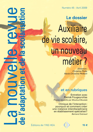 Couverture de La nouvelle revue de l'adaptation et de la scolarisation, n°45