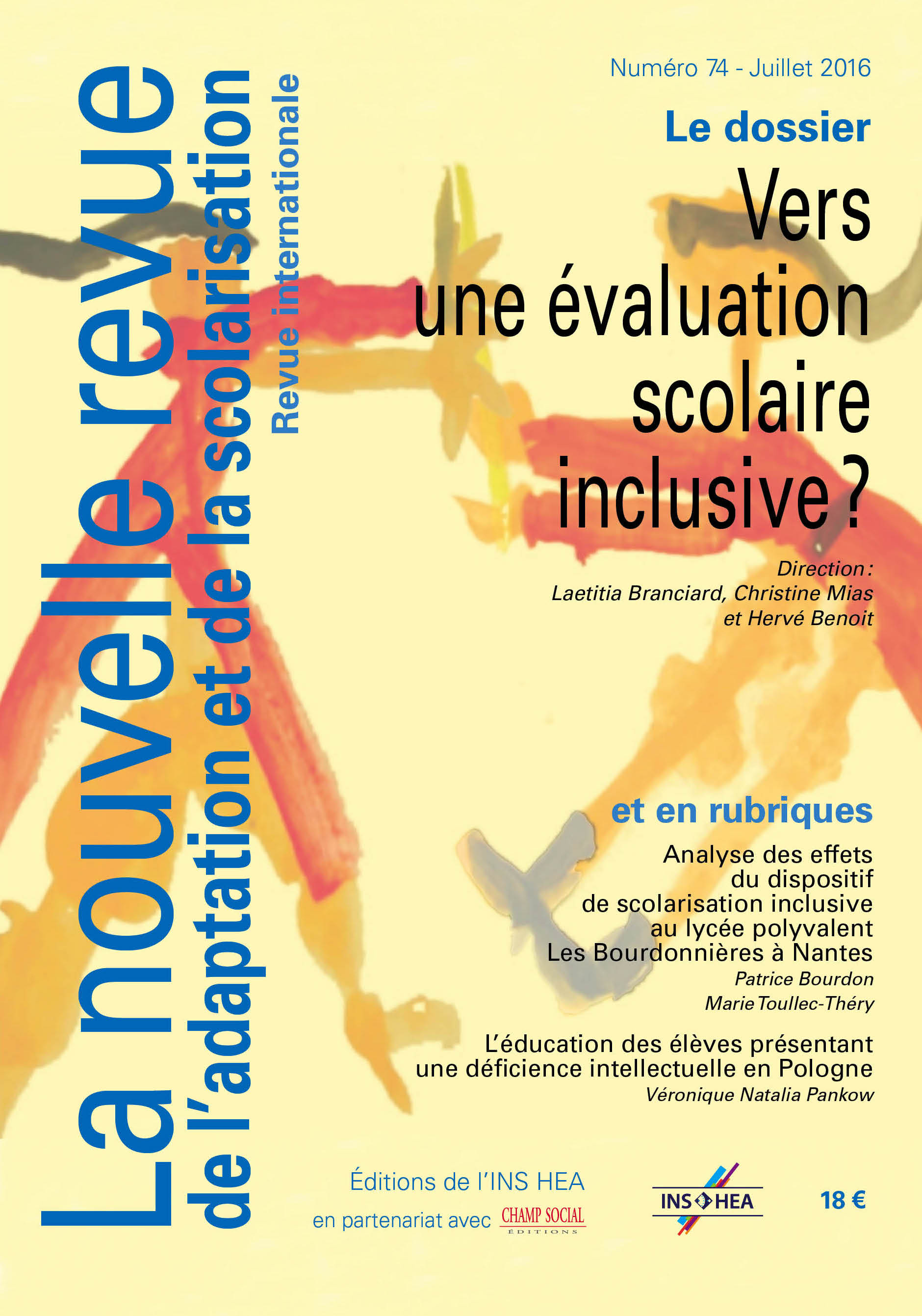 Couverture du numéro 74 de La nouvelle revue de l'adaptation et de la scolarisation