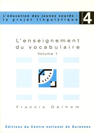 """Couverture de l'ouvrage """"L'enseignement du vocabulaire"""""""