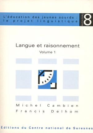 """Couverture de l'ouvrage """"Langue et raisonnement"""""""