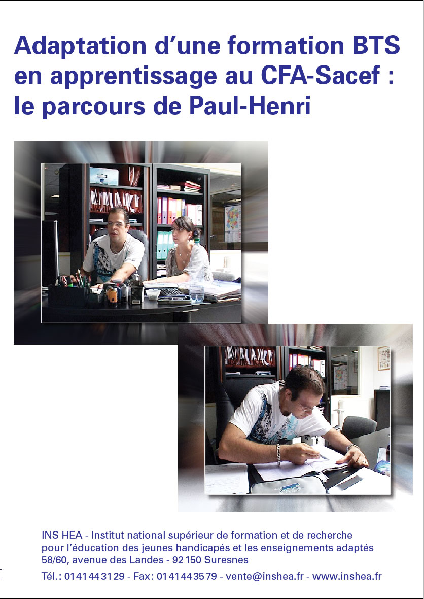 """Jaquette du film """"Adaptation d'une formation BTS en apprentissage au CFA-Sacef : le parcours de Paul-Henri"""""""