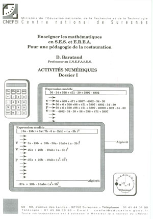 """Couverture de l'ouvrage """"Enseigner les mathématiques en SES et en EREA"""""""