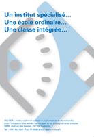 """Jaquette du film """"Un institut spécialisé, une école ordinaire, une classe intégrée"""", sans visuel."""