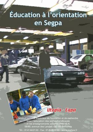 """Jaquette du film """"Éducation à l'orientation en Segpa"""" illustrée par des élèves en talier mécanique-auto."""