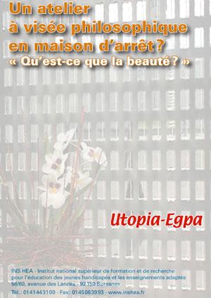 """Jaquette du film """"Un atelier à visée philosophique en maison d'arrêt"""" illustrée par une photo de fleurs avec des barreaux de prison."""