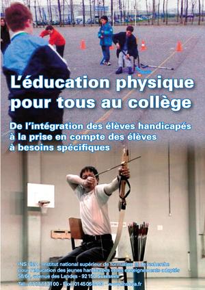 """Jaquette du film """"L'Éducation physique pour tous au collège"""". Avec deux photos d'élèves en EPS."""