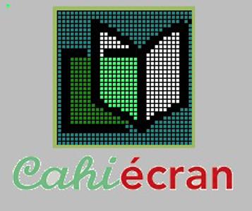 """Logo du logiciel """"Cahiécran V4.01"""""""
