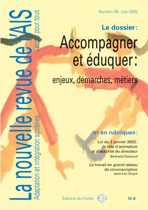 Couverture de La nouvelle revue de l'adaptation et de la scolarisation, n°30