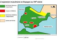 carte espagne musulmane